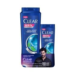 CLEAR - CLEAR ŞP 500ML+180 ML COOL SPORT SAÇ KREM