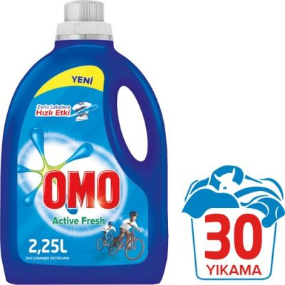 OMO MATİK SIVI 2250ML ACTİVE FRESH