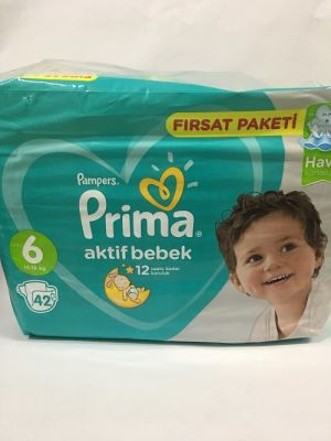 PRİMA AKTİF BEBEK FIRSAT PAKET EXT.LARGE NO:6 42Lİ
