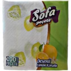 SOFTY - SOFA PEÇETE 100LÜ DES.LİMON KOKULU 30X30
