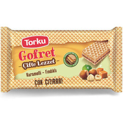 TORKU - TORKU GOFRET 40GR FINDIKLI BOL KREMALI