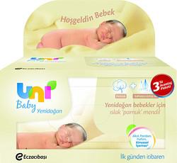 UNİ BABY - UNİ BABY ISLAK HAVLU 3LÜ YENİDOĞAN